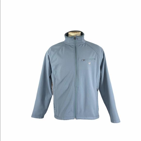 Mens New Balance Blue Gray Activewear Jacket Med